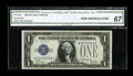 Small Size:Silver Certificates, Fr. 1602* $1 1928B Silver Certificate. CGA Gem Uncirculated 67.. ...