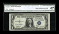 Small Size:Silver Certificates, Fr. 1611* $1 1935B Silver Certificate. CGA Gem Uncirculated 67.. ...
