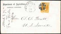 Stamps, (O2) Agriculture Dept., 1873, 2¢ yellow...