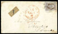 Stamps, (1) U.S. 1847, 5¢ red brown...