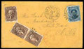 Stamps, (32) Hawaii 1866, 5¢ blue...