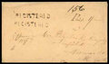 Stamps, (Jan. 9) Canada Unfranked 1857 registered envelope...