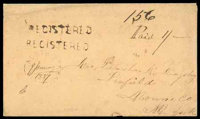 (Jan. 9) Canada Unfranked 1857 registered envelope