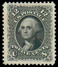 Stamps, (107) 1875 Re-issue of 1861-67 issue, 12¢ black...