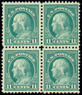 Stamps, (511a) 1917, 11¢ light green, perf 10 at bottom...