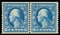 Stamps, (355) 1909, 5¢ blue coil...