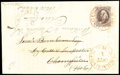 Stamps, (1a) 1847, 5¢ dark brown...