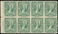 Stamps, (67) Canal Zone, 1924, 1c green...