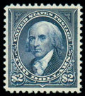 Stamps, (277) 1895, $2 bright blue...