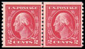 Stamps, (444) 1914, 2¢ carmine coil...