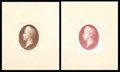 Stamps, (155-E3a) 1870, 90¢ Regular Issue essay on India paper...