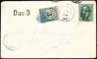 (O49) Post Office Dept., 1873, 3¢ black