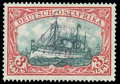Stamps, Mafia Island, 1915, 6c on 3r blue-black and red...