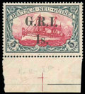 Stamps, New Britain, 1914, 5s on 5m carmine and black, error of surcharge 1s...