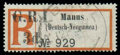 """Stamps, New Britain, 1915, Manus in serif letters No. 929, variety no stop after """"I""""..."""