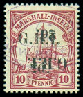 Stamps, New Britain, 1914, 2d on 10pf carmine, variety surcharge double, one inverted...