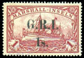 Stamps, New Britain, 1914, 1s on 1m carmine...