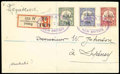 Stamps, New Britain, 1914, 2d on Marshall Islands 10pf carmine, 3½mm spacing, postal stationery Setting A...