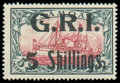 Stamps, Samoa, 1914, 5s on 5m carmine and black...