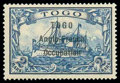 """Stamps, Togo, 1914, 2m blue, variety 1½mm spacing between """"Anglo"""" and """"French""""..."""