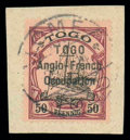Stamps, Togo, 1914, 50pf black and purple on buff...