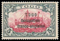 Stamps, Togo, 1915, 5m carmine and black...