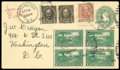 Stamps, (551, 587, 619) 1925, ½¢ olive brown, 6¢ perf. 10 and 1¢ Lexington-Concord...