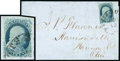 Stamps, (5) 1851, 1¢ blue, type I...