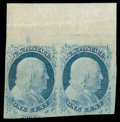 Stamps, (7, 9) 1851-52, 1¢ blue, types II, IV...