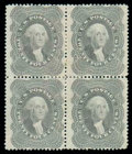 Stamps, (37) 1860, 24¢ gray lilac...