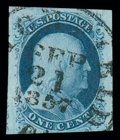 Stamps, (8) 1851, 1¢ blue, type III...