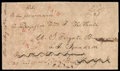 Stamps, 1844 (May 13) to U.S. Frigate Brandywine, East India Squadron...