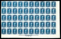 Stamps, (72P3) 1861, 90¢ blue, plate proof on India...