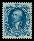 Stamps, (111) 1875 Re-issue of 1861-67 issue, 90¢ blue...
