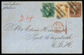 Stamps, 1863 (Oct. 9) Boston, Mass. to Port Elizabeth, Cape of Good Hope...