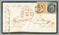 Stamps, 1867 (Nov. 12) New Haven, Ct. to Bangkok, Siam...