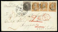 Stamps, 1863 (Aug. 31) Sheffield, Mass. to Singapore...