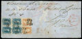Stamps, 1865 (Oct. 6) New York to Lyon, France...