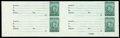 Stamps, (RD86-91, RD185A-C var.) Stock Transfer, 1940-44, $30-$10,000, unfinished imperforates...