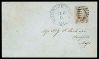 (1) 1847, 5¢ red brown