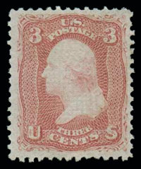 (85C) 1867, 3¢ rose, Z. grill