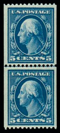 Stamps, (351) 1909, 5¢ blue coil...