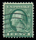 Stamps, (544) 1923, 1¢ green, rotary coil waste...