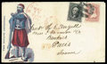 """Stamps, Man with Rifle, """"The Zouave Defender""""..."""