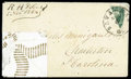 Stamps, (13c) Confederacy, 1863, 20¢ green, diagonal bisect...