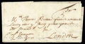 Stamps, 1690 (May 11) Boston, Ms. to London, England...