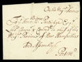 Stamps, 1698 (Aug. 9) Portsmouth N.H. to Portsmouth...