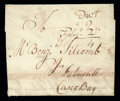 Stamps, 1770 (Dec. 19) Charlestown Mass. to Falmouth Me., forwarded to Portsmouth...