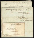 Stamps, 1778 (Apr. 2) Camp Valley Forge Pa. to Weatherfield Ct....