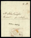 Stamps, 1782 (May 4) Philadelphia Pa. to Annapolis Md....